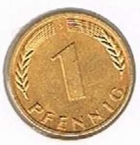 Duitsland 1977J vergulde / gold plated 1 pfennig (goud011)