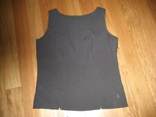 LADIES CUTE GREY POLYESTER SLEEVELESS TOP BY FOR WOMEN - SIZE 12 - ZIP AT SIDE