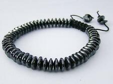 Men's Shamballa bracelet all 8mm non magnetic HEMATITE  beads