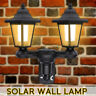 Doppia Testa LED ad Energia Solare Applique da Parete Patio Giardino Esterno
