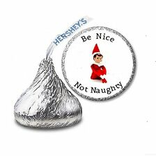 108 ELF ON THE SHELF HERSHEY'S KISS CANDY STICKER LABELS - Party Favors