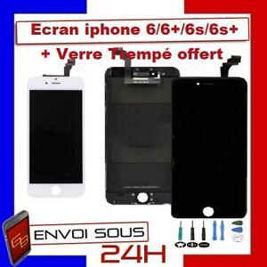 Ecran VITRE TACTILE IPHONE 6/6+/6s/6s+ Plus  NOIR OU BLANC + ECRAN LCD RETINA