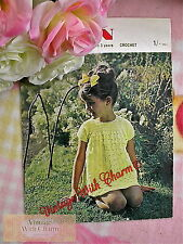 Vintage 70s Crochet Pattern Little Girl & Baby's Dress. 2 Sizes. JUST £1.69!!