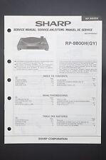 Sharp rp-8800h ORIGINAL MANUEL DE SERVICE/MANUELS REPARATION / AMPLIFICATEUR !