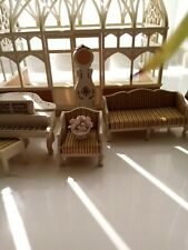 Lundby Dolls House vintage furniture With a Sylvanian Family Conservetory 1:16th