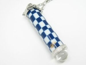 Checkered Pattern - Arita Ware Teleidoscope Necklace
