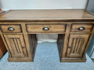Solid Heavy Chunky Double Pedestal Desk