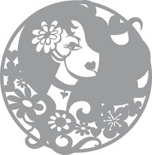 Pronty - Stencil - Mask -Template - Lady in circle- 470.805.018
