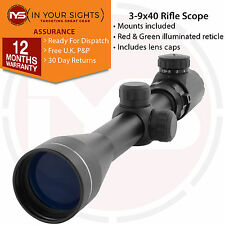 3-9X40 Airgun rifle scope + dovetail mounts / Illuminated reticle riflescope