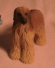 Afghan Hound Collectible Dog Figurine Stone Resin Hand Painted New