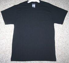 Medium Jerzees Black Cotton Polyester Men's Man Crewneck Tee Shirt Short Sleeve
