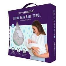 Clevamama Coton Tablier Bébé Bain Serviette (Gris) - Compatible Pour