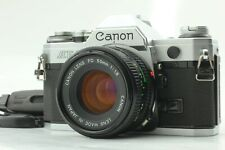 【Near-Mint】 Canon AE-1 Silver 35mm SLR Film Camera Body NFD 50mm F1.8 Lens #346