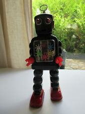 ☺ Jouet De L'Espace HIGH-WHEEL ROBOT Noir Reproduction Hauteur 25 Cm