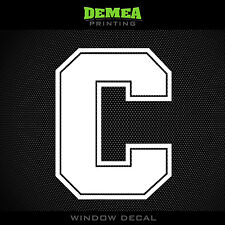 "Cornell - C - Big Red - NCAA - White Vinyl Sticker Decal 5"""