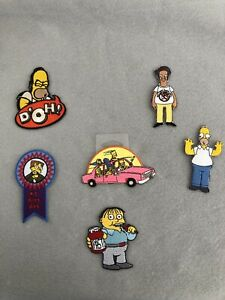 NEW LOT OF 6 - The Simpsons Sew/Iron Patches