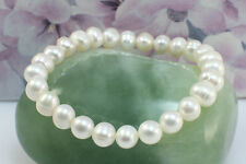 Simple Freshwater Pearl Stretching Bracelet,White Pearl