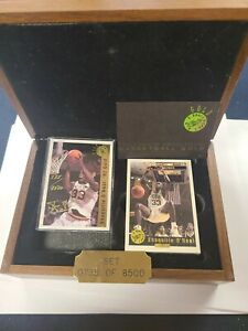 1992 CLASSIC DRAFT PICKS GOLD SET WOODEN BOX SHAQUILLE O'NEAL AUTO LIMITED *READ