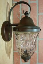 Old LIGHTOLIER Wall Mount Fixture Light Sconce Bubble Glass Shade Decorative Art