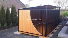 Hundezwinger Hundekäfig 3x2x1,75 m mit Holzboden und geschwungene Holzwand
