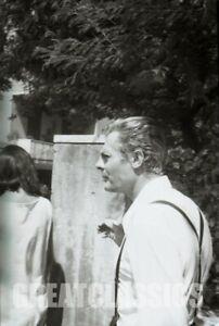 MARCELLO MASTROIANNI FELLINI 8 1/2 '63 CANDID ON SET CAMERA NEGATIVE PETER BASCH