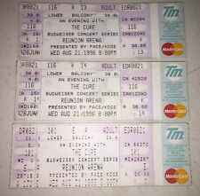 VINTAGE 1996 THE CURE UNUSED TICKET - REUNION ARENA 8/21/96 (LOT OF 3)
