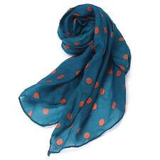 Womens Scarf Wrap Shawl Lady Chiffon Scarf Polka Dot Scarves Stole Warm Gift Hot