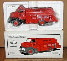 First Gear Phillips 66 1953 Ford C600 Fuel Tanker Truck 1/34 Toy 19-1955 Ltd Ed