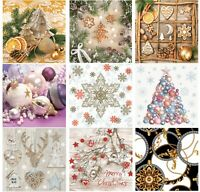 LUXURY Napkins for Decoupage Christmas Decorations 33x33cm Paper 3PLY 20 Pack