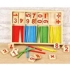 Montessori mathématique Intelligence bâton jouet éducatif préscolaire Compter@AH