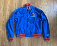 Denver Broncos Vintage 90's Button Up Starter Jacket Blue Kids XL Women's S Rare