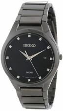 Seiko Men's Solar Japanese Quartz Dress Watch SNE243