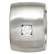 Anhänger 925 Sterling Silber matt 1 Diamant Brillant Diamantanhänger 40328