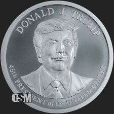 Donald Trump 2020 2 oz .999 silver 45th President commemorative MAGA large 47mm