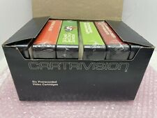 RARE SEALED CARTRIVISION LOT OF 6 VIDEO CASSETTE TAPE CARTRIDGES W/ BLACK BOX
