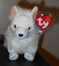 Ty Beanie Baby ~ SNOCAP the Snow Fox (7.5 Inch) MWMT