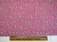 Vintage Peter Pan Cotton Fabric Pink Trellis Vine Floral Quilt Craft 1 YD