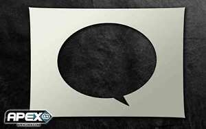 Speech Bubble Stencil - Airbrush, Sponging Snow ST-SPEECH2