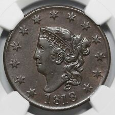 1818 N-1 R-2+ NGC XF 45 Matron or Coronet Head Large Cent Coin 1c