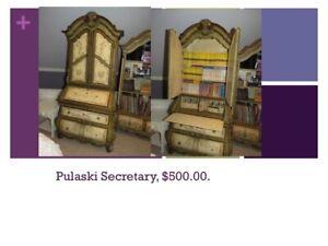 Pulaski Secretary Desk and Hutch