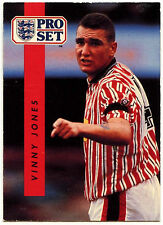 Vinny Jones Sheffield United #194 Pro Set Fútbol 1990-1 tarjeta de comercio (C363)
