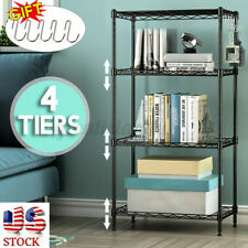 4 Tier Metal Kitchen Shelf Book Rack Bathroom Shoe Storage Stand Home Organizer
