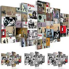 BANKSY STREET ART GRAFFITI Wandbilder xxl Bilder Vlies Leinwand i-C-0092-b-n