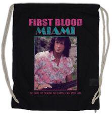 FIRST BLOOD MIAMI Turnbeutel Vice John Rambo Fun 80s