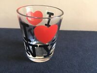 """""""I LOVE NY"""" - """" I Heart NY"""" Shot Glass; FREE SHIPPING"""