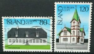 ICELAND 1978 Europa: Architecture Church. Set of 2. Fine USED. SG561/562