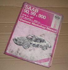 1979-1987(R to E reg) SAAB 90,99 AND 900 1985cc HAYNES WORKSHOP MANUAL No 765