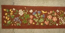 An Exceptional Needlepoint Tapestry Band w/ Butterflies, Dragonflies, Frog, Bird