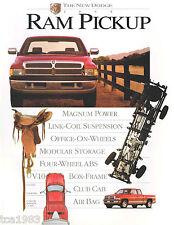 1995 DODGE RAM PICKUP CAMION Brochure / CATALOGO; S. ,Tenente,Pick up,Laramie,