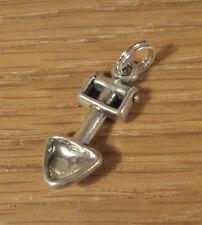 Garden Shovel Trowel Charm Pendant .925 Sterling Silver USA Made Gardener Gift